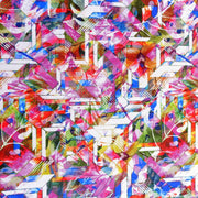 Stained Glass Abstract Nylon Spandex Swimsuit Fabric