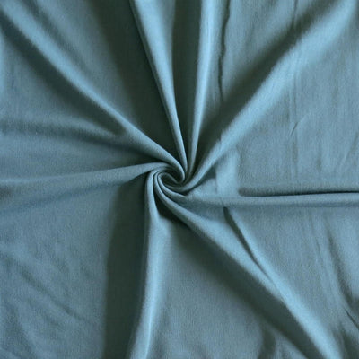 Steel Blue Bamboo Lycra Jersey Knit Fabric