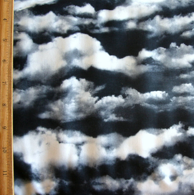 Stormy Day Nylon Spandex Swimsuit Fabric