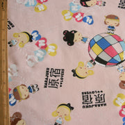 Stylish Girls Around the World Cotton Fleece Fabric