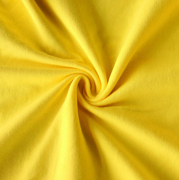 Sunshine Yellow Cotton Lycra Jersey Knit Fabric