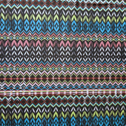 Sunset Ikat Stripe Poly Spandex Swimsuit Fabric