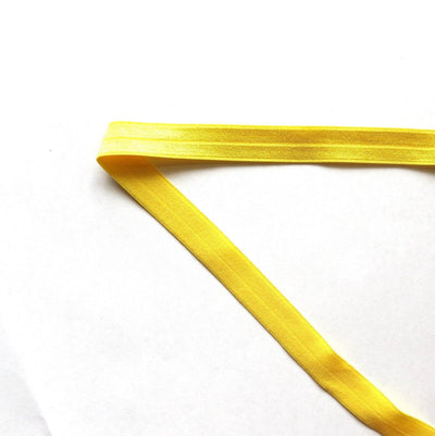Sunset Yellow Fold Over Elastic Trim