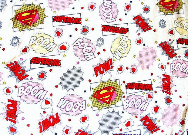 Supergirl Cotton Knit Fabric - 15 Yard Bolt