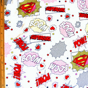 Supergirl Cotton Knit Fabric