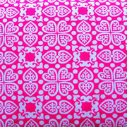 "Swedish Hearts Swimsuit Fabric - 28"" Remnant Piece"