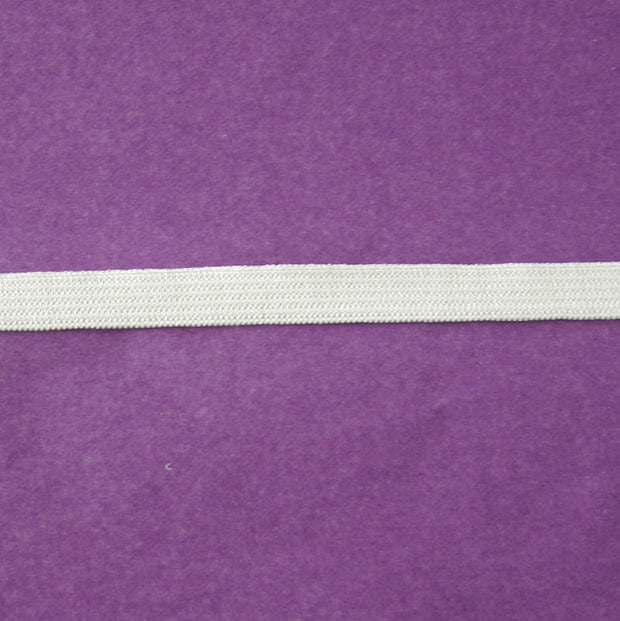 "White 3/8"" Swimsuit Elastic"