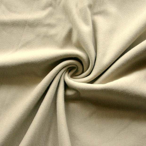 Tan Bamboo Cotton Lycra French Terry Fabric