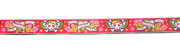Girly Tattoo Symbols Woven Ribbon Trim