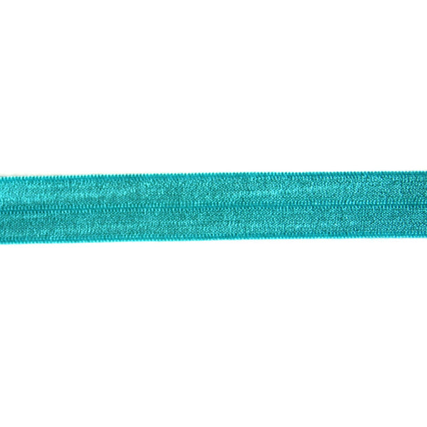 Teal Green Fold Over Elastic Trim