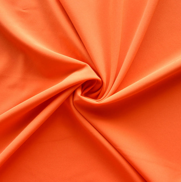 Tiger Orange Stretch Woven Fabric