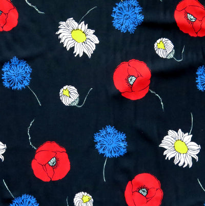 Tossed Flowers Nylon Spandex Swimsuit Fabric