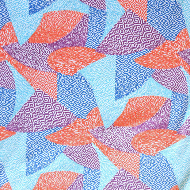 Abstract Triangle Patchwork Nylon Spandex Swimsuit Fabric