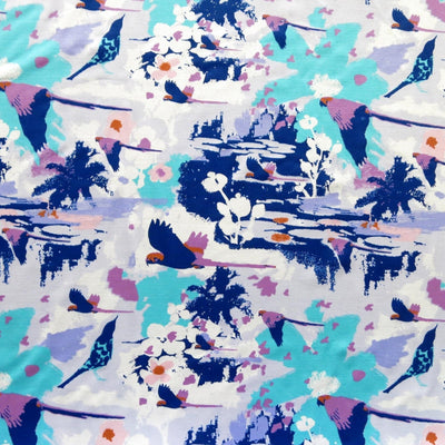 Tropical Toucans Nylon Spandex Swimsuit Fabric