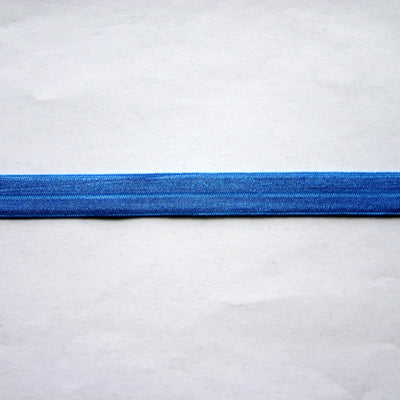 True Blue Fold Over Elastic Trim