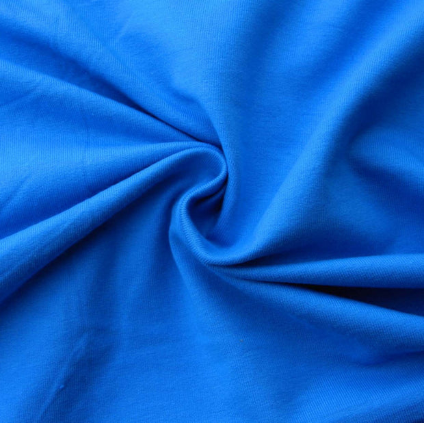 Turquoise Blue Cotton Lycra French Terry Fabric