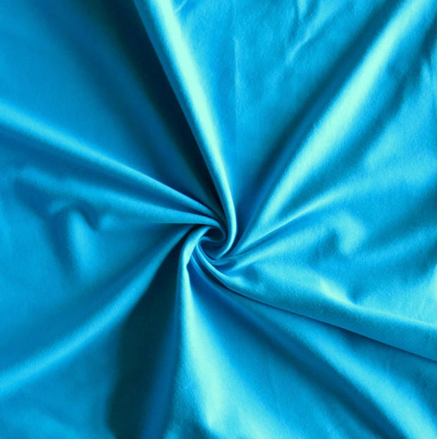 Turquoise 10 oz. Cotton Lycra Jersey Knit Fabric