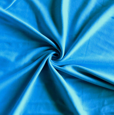 Turquoise Blue Cotton Interlock Fabric