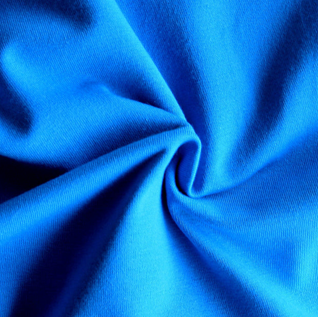 Turquoise Blue Cotton Lycra Jersey Knit Fabric