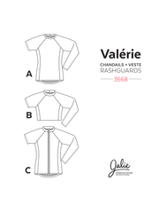 Valerie Swim Shirts Sewing Pattern by Jalie