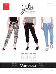 Vanessa Fluid Pants Sewing Pattern by Jalie