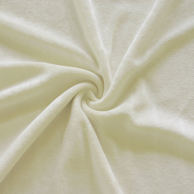 Natural Bamboo Organic Cotton Velour Fabric