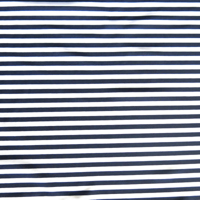 Navy and White 1/4 inch Stripe Nylon Spandex Swimsuit Fabric