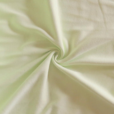 Very Light Green Cotton Interlock Knit Fabric