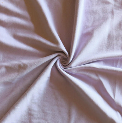 Very Light Purple Cotton Heavy Rib Knit Fabric