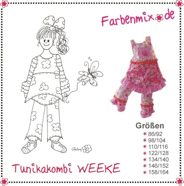 Weeke Tunic and Trouser Sewing Pattern by Farbenmix