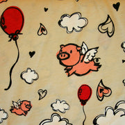 When Pig's Fly Cotton Knit Fabric