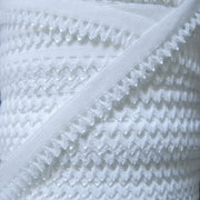 "White 1/2"" Picot Decorative Elastic Trim"