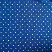 White Aspirin Dots on Sapphire Blue Nylon Spandex Swimsuit Fabric