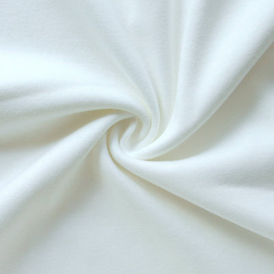 Bright White Cotton Interlock Fabric