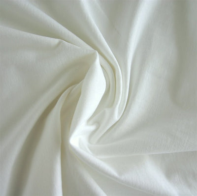 White 12 oz. Cotton Lycra Jersey Knit Fabric