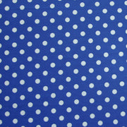 White Eraser Polka Dots on Royal Blue Nylon Lycra Swimsuit Fabric