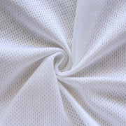 White Dri-Fit Looped Back Nylon Lycra Mesh Fabric