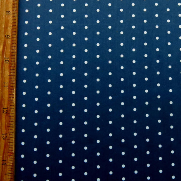 Pebble Dot Navy Poly Spandex Swimsuit Fabric