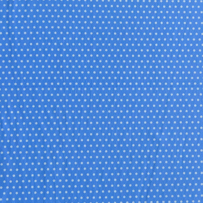 White Pindots on Periwinkle Blue Nylon Spandex Swimsuit Fabric