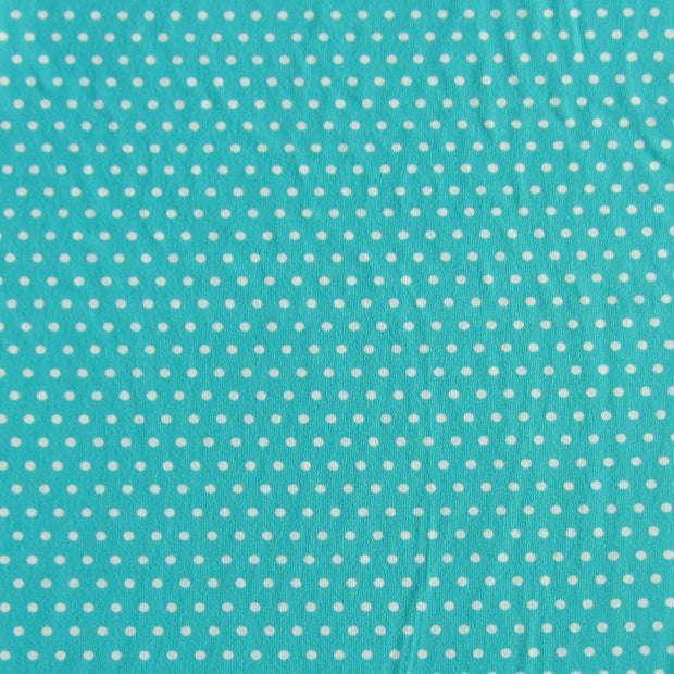 White Pindots on Laribe Nylon Spandex Swimsuit Fabric