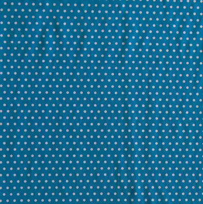 White Pindots on Teal Nylon Spandex Swimsuit Fabric
