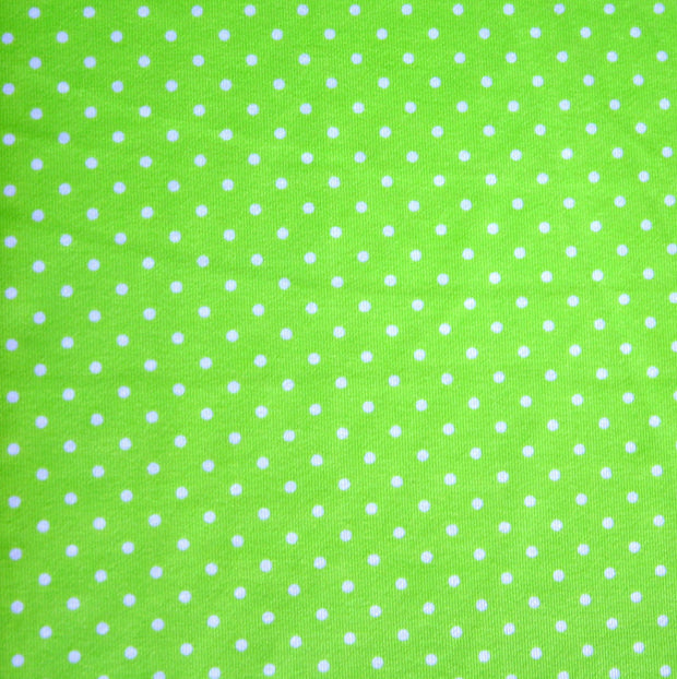 White Pindots on Lime Swimsuit Fabric by Anita G