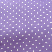 White Pindots on Purple Swimsuit Fabric by Anita G