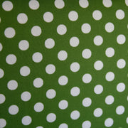 White Polka Dots on Forest Green Swimsuit Fabric
