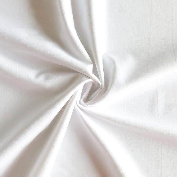White Stretch Woven Fabric