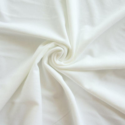 White Poly Spandex Swimsuit Lining Fabric
