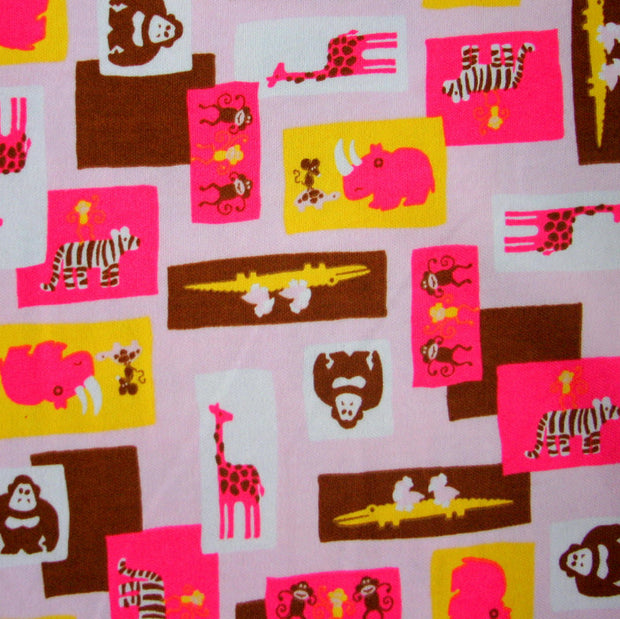 Wild Ones Cotton Interlock Fabric, Pink Colorway - 15 Yard Bolt