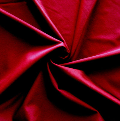 Wine Solid Nylon Spandex Tricot Specialty Swimsuit Fabric