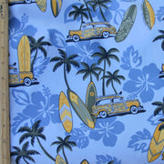 Woody Cars and Surfboards Boardshort Fabric