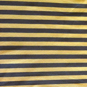 "Yellow and Dark Green 3/8"" wide Stripe Cotton Lycra Knit Fabric"